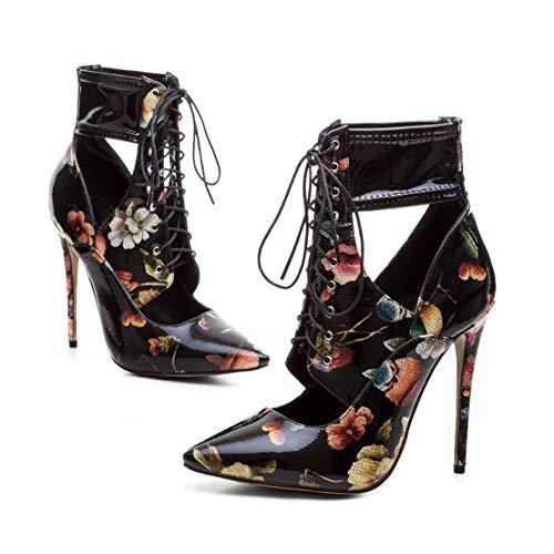 Chaussures Antidérapant Soirée Du Bride Creux Cheville Mode 12Cm Couleur Talon À Banquet De Stiletto Hauteur Black La Chaussures Simples Femmes La Pointé ZqzUnwXFO