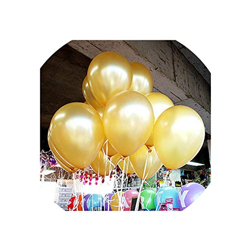 100/50Pcs/Lot Birthday Balloons 8Inch Latex Balloons Wedding Party Balloon Ball,Gold,50Pcs ()