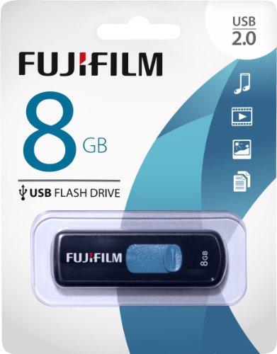 Fujifilm USB 2.0 8GB Capless Slider Capless Flash Drive (600012297)
