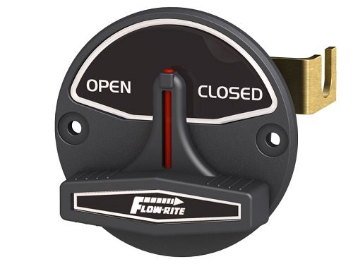 Open/Closed, for Use With 2-Position Valve, Black/White