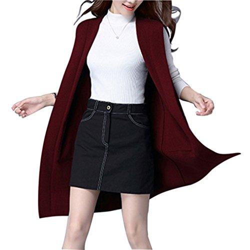 Gordon Q Womens Casual Wool Hem Knit Vest Cozy Fit Hoodie Cardigan Tops