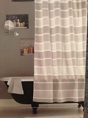 Threshold Seersucker Shower Curtain