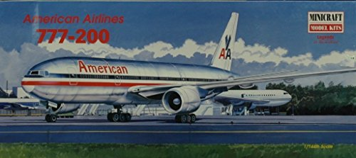 Minicraft 1:144 American Airlines 777-200 Plastic Aircraft Model Kit (144 American Airlines)