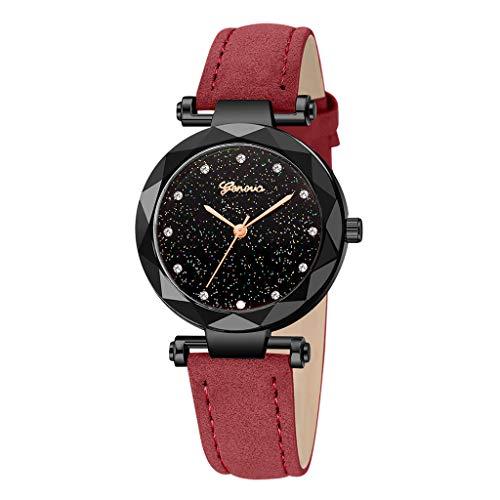 Black Fashion Geneva Ladies Leather Watch, Automatic Mechanical Bracelet Watch Ladies Waterproof Steel Wrist Watches]()