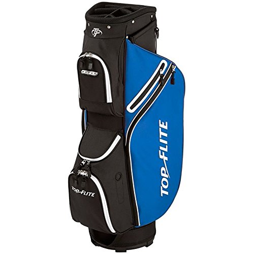 Top Flite 2018 Golf Cart Bag Mens Lightweight 8-Way Top - Black/Blue by Top Flight