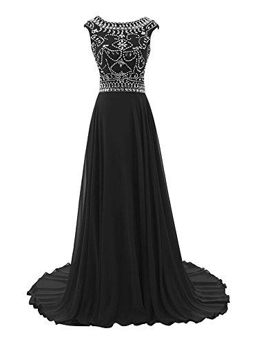 Bridal Nero maniche Senza Vestito Donna Mall 6XxwrTqO6