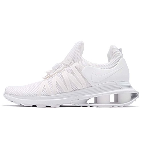 NIKE Men's Shox Gravity White/White/White Nylon Running Shoes 13 (D) M US (Shox Sneaker Shoe)