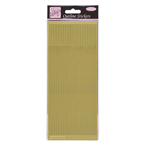 Anitas Outline Peel Off Craft Stickers - Straight Line Borders Silver Adhesive Peel Off Borders