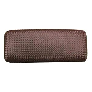 Glasses Case For Men & Women, Large Hard Shell Eyeglass Case, Diamond Weave In Brown