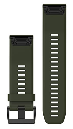 Garmin 010-12517-03 Fenix 5X Quick fit 26 Watch Band - Moss Green Silicone