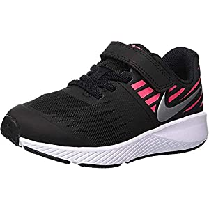 Best Epic Trends 417e%2BgN1fUL._SS300_ Nike Girl's, Star Runner Sneaker - Little Kid Black/HOT Pink 11.5 M