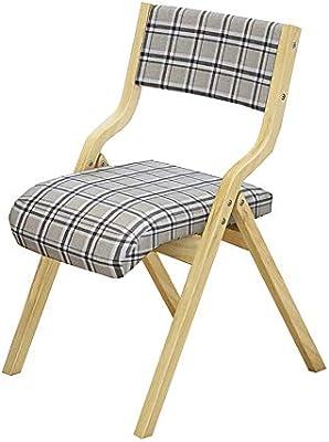 Amazon.com: Silla de comedor YXX de madera plegable para ...