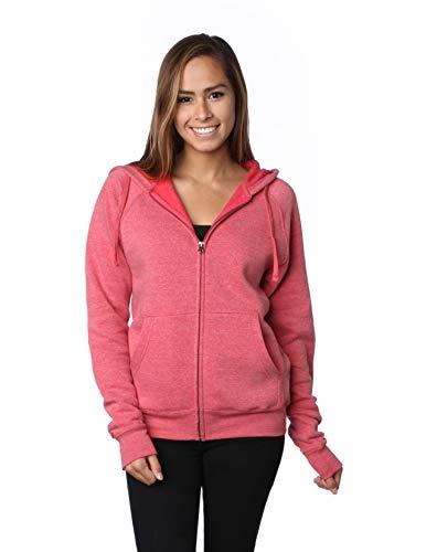 Global 2XL Fleece Zip Up Hoodie Men Plus Size Sweatshirt Women Outwear Coat