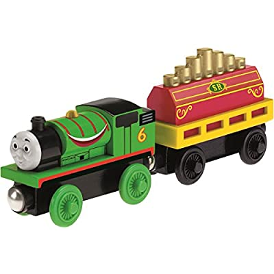 Fisher-Price Thomas & Friends Wooden Railway, Percy's Musical Ride Train - Battery Operated: Toys & Games