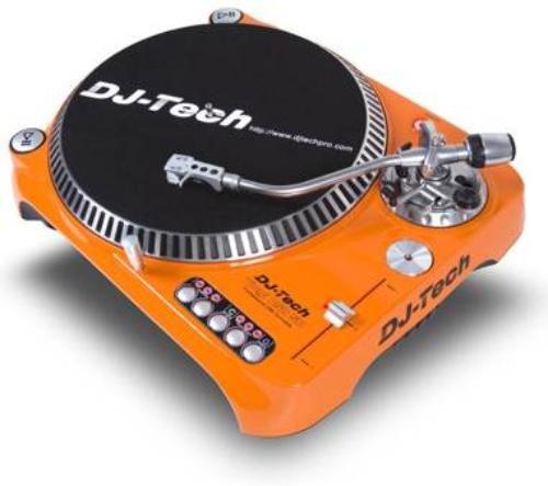Dj Tech SL1300MK6USB-ORA Direct Drive DJ Turntable, Orange