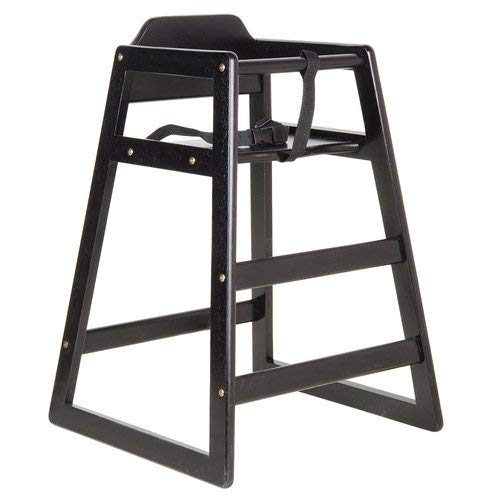 Strap Stacking Bar - Premier Choice Black Stacking Restaurant Wood High Chair