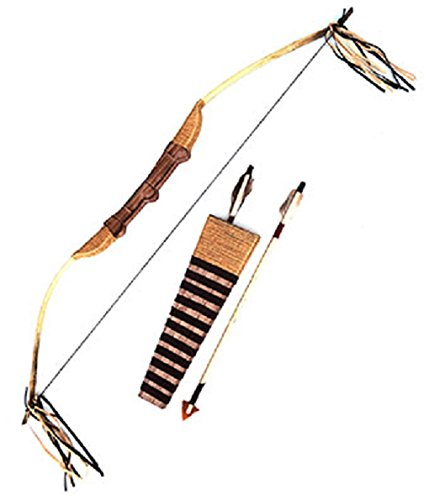 Funny Fashion Indian Native American Novelty Bow and Arrows Quiver Set Costume (Bow Arrow Quiver Costume)