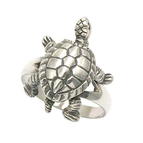 Wild Things Sterling Silver Turtle Ring with Movable Legs (9)