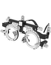 LLF Optisch Optisch Proeflenzen Frame Oogoptometrie Optician, Verwisselbare Cilinderas, Verstelbare Tempellengte en Neusrust