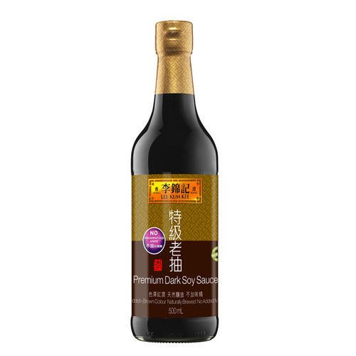 Lee Kum Kee Premium Dark Soy Sauce, 16.9-Ounce Bottle (Pack of 2)