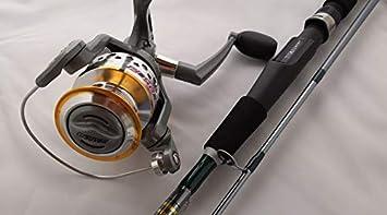 Grauvell - Caña de Pescar y Carrete Pro Light Spinning Combo 180 ...
