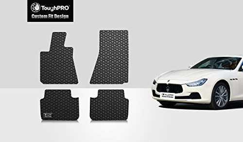ToughPRO Maserati Ghibli Floor Mats Set – All Weather – Heavy Duty – Black Rubber – 2014-2015-2016-2017