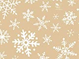 Snowflakes On Kraft Tissue Paper - 20in. X 30in. (24 Sheets)
