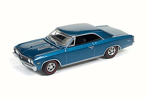 1967 Chevy Chevelle SS, Marina Blue - Auto World AW64132/24A - 1/64 Scale Diecast Model Toy (Chevelle Diecast Model)