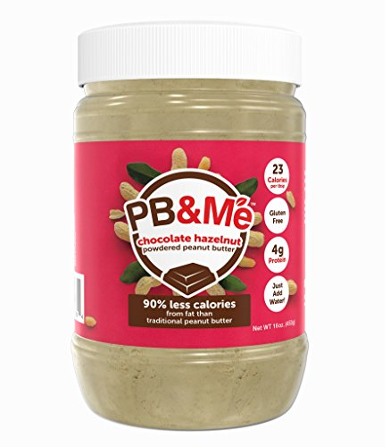 PB&Me Powdered Peanut Butter, Keto Snack, Gluten Free, Plant Protein, Chocolate Hazelnut, 16 Ounce