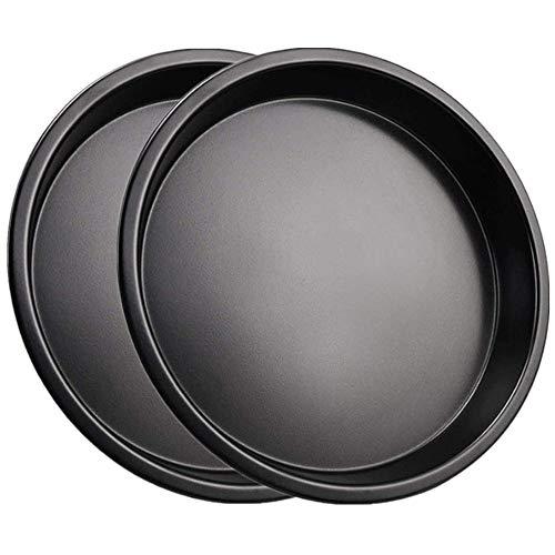 Mokpi Nonstick Pizza Baking Pan Deep Dish Oven Safe Round Tray Bakeware (1, 10-Inch)