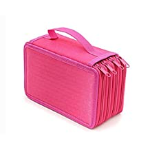 Grand Sky 72 Inserting Super Large Capacity Multi-layer Students Pencil Case Pen Bag Pouch Stationary Case Makeup Cosmetic Case Bag (Usual Rose)