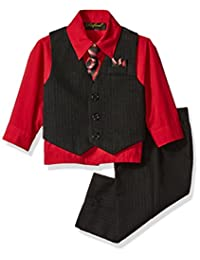 Boy's Vest and Pant Set, Includes Shirt, Tie and Hanky - Many Colors Available