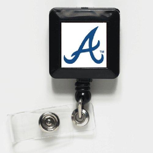 MLB Atlanta Braves Retractable Badge Holder, Black