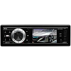 BOSS Audio BV7335B Single Din, Bluetooth, DVD/CD/MP3/USB/SD AM/FM Car Stereo, 3.2 Inch Digital LCD Monitor, Detachable Front Panel, Wireless Remote