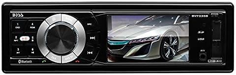 BOSS Audio BV7335B Single Din, Bluetooth, DVD/CD/MP3/USB/SD AM/FM Car Stereo, 3.2 Inch Digital LCD Monitor, Detachable Front Panel, Wireless (2004 Dodge Ram Audio)