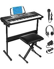 $79 » Moukey 54-Key Keyboard Piano, Electronic Keyboard for Beginners Adults Kids
