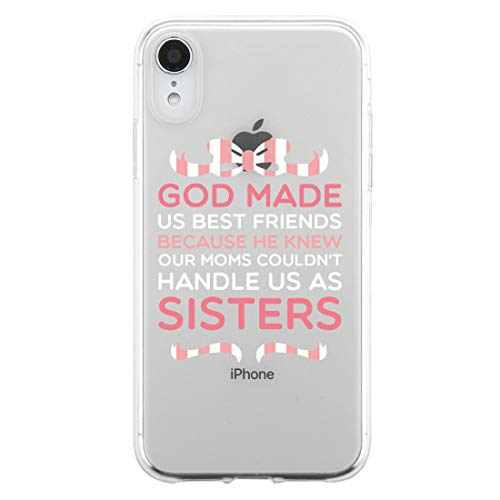 365 Printing God Made Us BFF Matching Phone Covers Thoughtful Sister/Friend Gift (Left - iPhone XR)