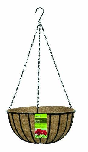 - Gardman R408 Black Traditional Hanging Basket with Coco Liner, 14
