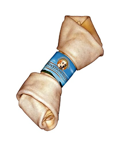 Flat Knot Rawhide Bone (Wholesome Hide USA Beef Hide - Knotted Bone, 4-5