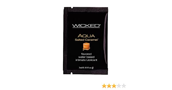 Amazon.com: Wicked Sensual Care Collection Aqua Water Based Lubricant, Salted Caramel.10 Ounce: Health & Personal Care
