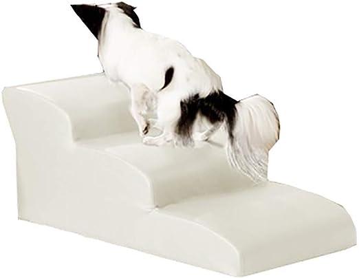 ZALIANG Escalera Mascota, Mascota Resto de Patines de Deslizamiento del Juguete Libre Inferior a la Cama de Escalera (Color : White, Size : 4 Step): Amazon.es: Productos para mascotas