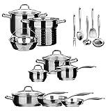 Best Induction Cookware Sets - Duxtop SSIB Stainless Steel Induction Cookware Set, Impact-bonded Review