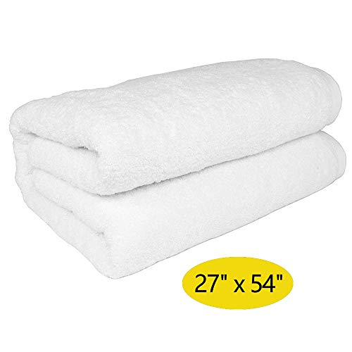Aodatu White Towel Bath Towels 100% Cotton White (28x56 Inches) Thick Towels Water Absorbent Towels It is Suitable for Bathing Spa Swimming Pool