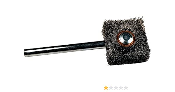"SS Twisted Wire Bristle Brush 7/"" Long x 3//16/"" Diam x 1.5/"" Brush NEW Choose Qty!"