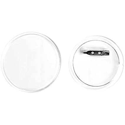Sbyure 30 Sets Acrylic Design Button Clear Plastic Button Badges Kit With Pin For Diy Crafts 2 36 Inch