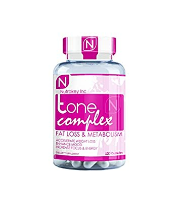 Nutrakey Tone Complex, Fat Burning Thermogenic for Women, 120 Count