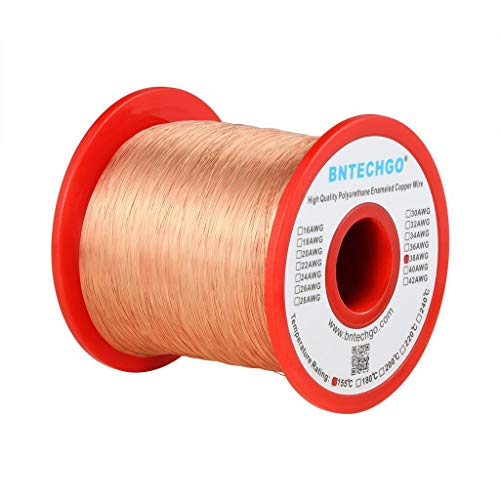 BNTECHGO 38 AWG Magnet Wire - Enameled Copper Wire - Enameled Magnet Winding Wire - 1.0 lb - 0.0039