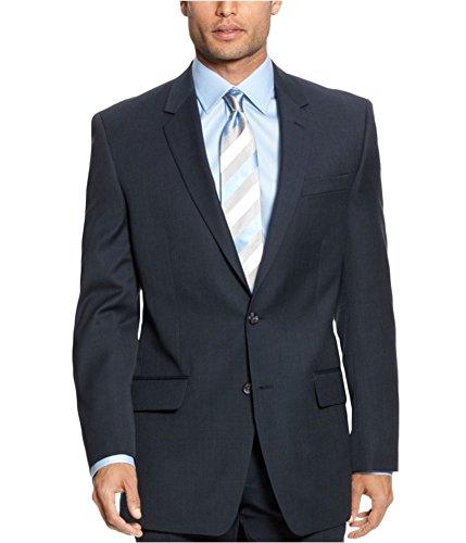 Alfani Blazer Seperate Two Button Navy Wool Blend New Men's Sport Coat (38 Regular) from Alfani