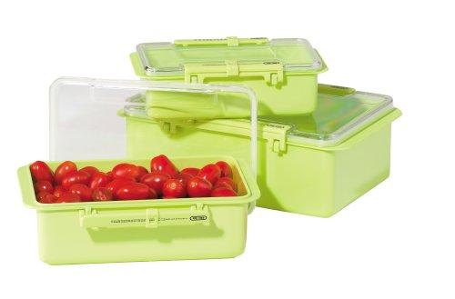 Oggi 3 Piece - Oggi Snap 'N Seal 3 Piece Container Set, Green