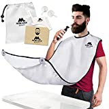 Best Beard Bib for Shaving - The Smart Way to Shave - Beard Trimming Apron - Perfect Grooming Gift or Mens Birthday Gift - Includes Shaping Comb, Bag, and Grooming E-book by Mobi Lock